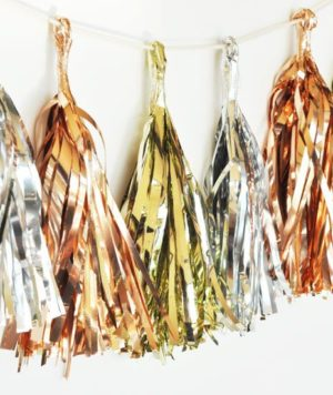 Mini Metallic Tassels