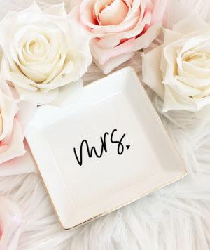 Mrs Bride RIng Dish