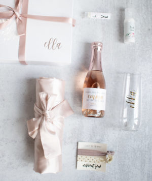 Bridesmaid Proposal Box Champagne