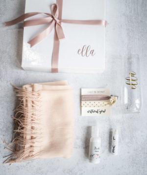 Bridesmaid Gift Set with cashmere wrap