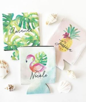 Bride Tribe Tropical Coozies