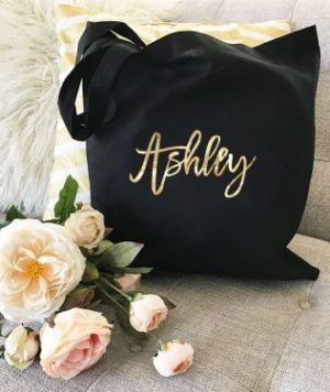 Custom Wedding Tote Bag