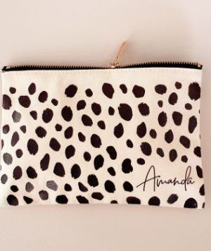 Cheetah Print Bridesmaid Makeup Bag