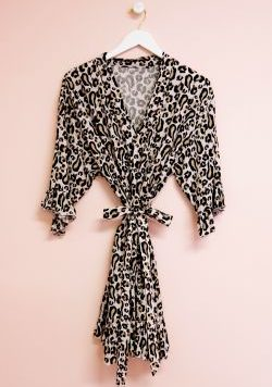 Leopard Bridesmaid Robe