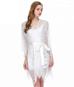 Boho Lace Bridal Robe