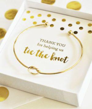 Tie the Knot Bridesmaid Bracelet Gift