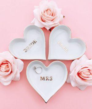 Bride Heart Ring Dish