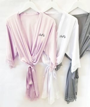 Mrs. Bridal Robe in Satin
