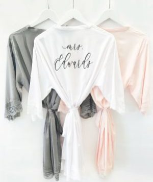 Personalized Bridesmaid Robes in Satin