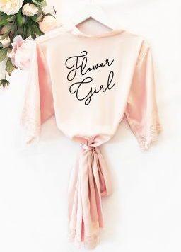 Flower Girl Satin Robe Personalized
