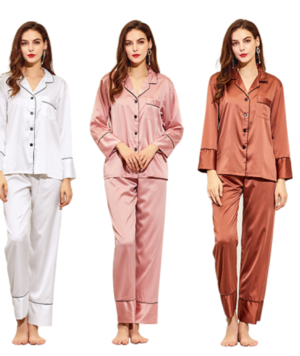 Long Sleeve Satin Bridesmaid Pajamas