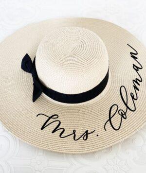 Custom Personalized Bride Sun Hat